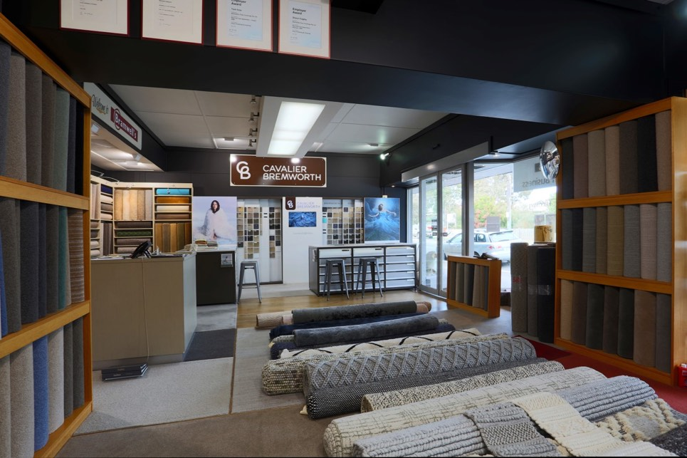Our showroom in Sandringham with a large assortment of carpets as well as rugs.